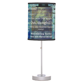 Shakespeare humorous Insult quotes Desk Lamp