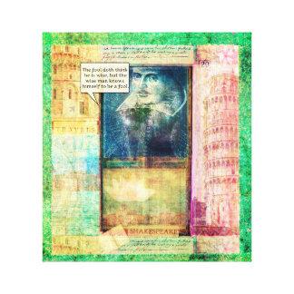 Shakespeare humorous wisdom quote canvas prints