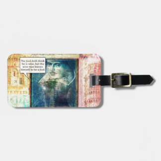 Shakespeare humorous wisdom quote tags for bags