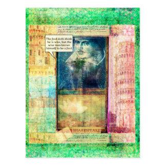 Shakespeare humorous wisdom quote postcard