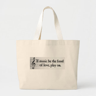 Shakespeare: If Music be the Food of Love Canvas Bag
