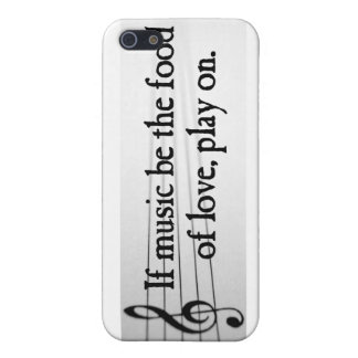 Shakespeare: If Music be the Food of Love iPhone 5 Cases