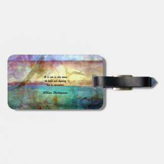 Shakespeare Inspirational Quote About Destiny Luggage Tag