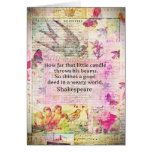 Shakespeare  inspirational quote about good deeds cards