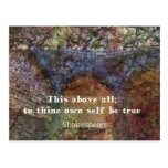 Shakespeare inspirational  quote post card