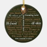 Shakespeare insulta el ornamento adorno de navidad