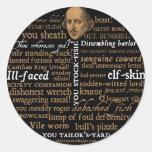 Shakespeare insulta la colección etiquetas redondas
