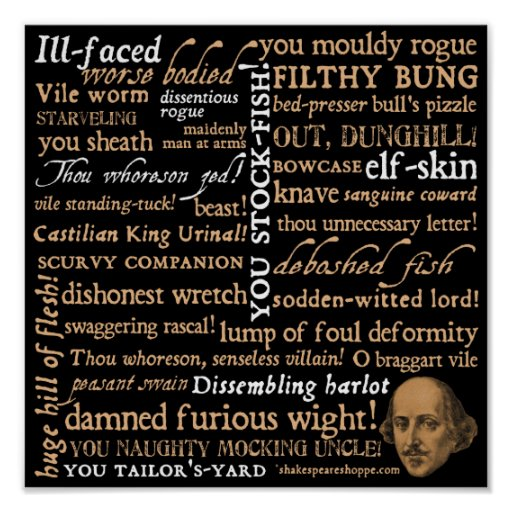 Shakespeare insulta la colección póster