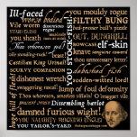Shakespeare insulta la colección posters