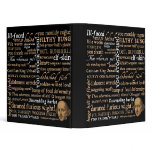 Shakespeare Insults Collection 3 Ring Binder