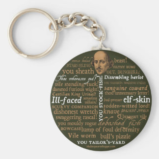 Shakespeare Insults Collection Basic Round Button Keychain