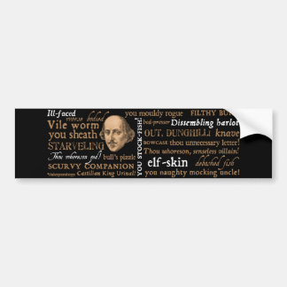 Shakespeare Insults Collection Bumper Sticker