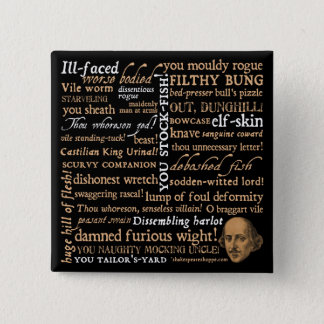 Shakespeare Insults Collection Button