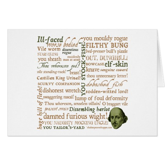 Shakespeare Insults Collection Card
