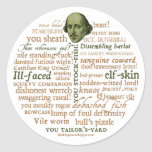 Shakespeare Insults Collection Classic Round Sticker
