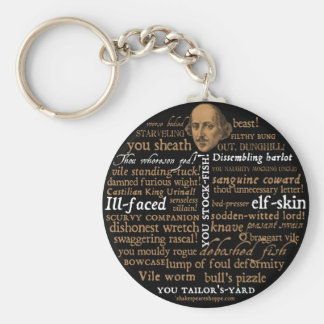 Shakespeare Insults Collection Keychain