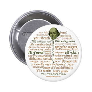 Shakespeare Insults Collection Pinback Button