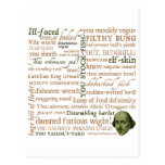 Shakespeare Insults Collection Post Cards