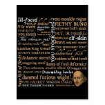 Shakespeare Insults Collection Postcards