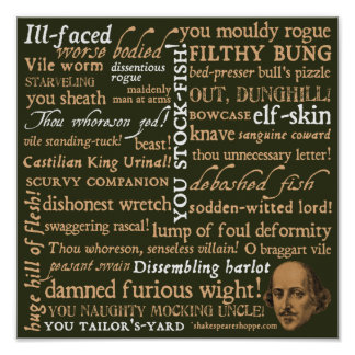 Shakespeare Insults Collection Poster