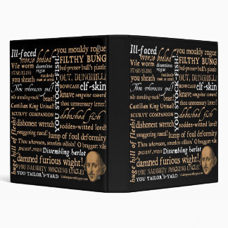 Shakespeare Insults Collection Vinyl Binder