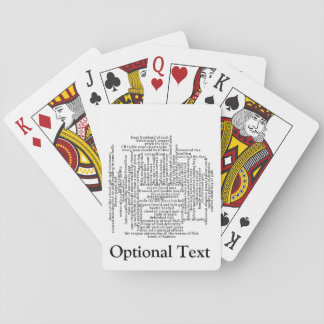 Shakespeare Insults List Funny Theatre Playing Cards