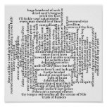 Shakespeare Insults List Funny Theatre Poster
