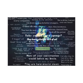 Shakespeare insults quotes gallery wrapped canvas
