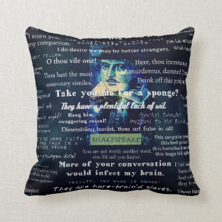 Shakespeare insults quotes throw pillow