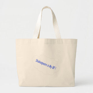 Shakespeare is my Best Friend Large Tote Bag