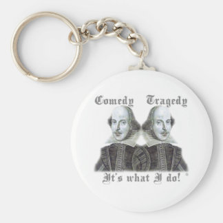 Shakespeare - It's what I do! Basic Round Button Keychain