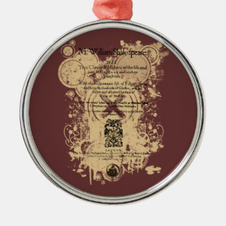 Shakespeare King Lear Quarto Front Piece Metal Ornament