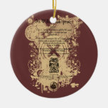 Shakespeare King Lear Quarto Front Piece Christmas Tree Ornaments