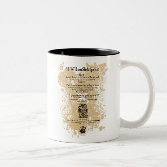Shakespeare King Lear Quarto Front Piece Two-Tone Coffee Mug