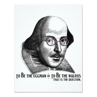 Shakespeare Lennon II Invitación 10,8 X 13,9 Cm