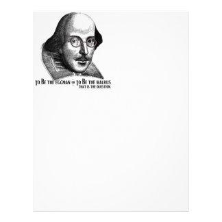 Shakespeare Lennon II Personalized Letterhead