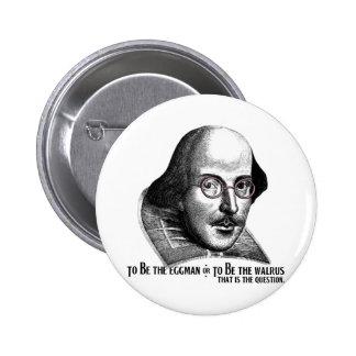 Shakespeare Lennon II Pin Redondo De 2 Pulgadas