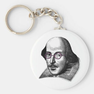 Shakespeare Lennon Llavero Redondo Tipo Pin