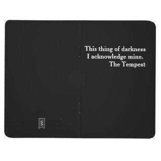"Shakespeare listo literario ""poco libro negro "" cuaderno"