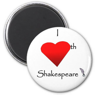 Shakespeare Love 2 Inch Round Magnet