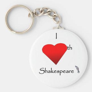 Shakespeare Love Basic Round Button Keychain