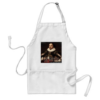 """Shakespeare """"Love Infinite"""" Love Quote Gifts & Tee Adult Apron"""