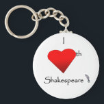 "Shakespeare Love Keychain<br><div class=""desc"">Show your love of the Bard with this one of a kind design!</div>"
