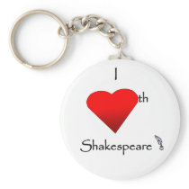 Shakespeare Love Keychain