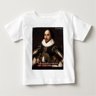 """Shakespeare """"Love/Might"""" Quote Gifts & Cards Etc Baby T-Shirt"""