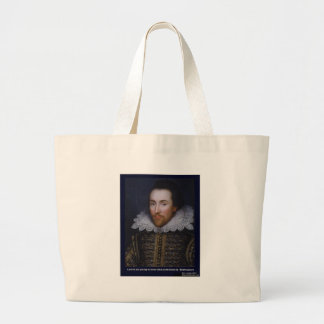 Shakespeare Love Too Young Love Quote Gifts Etc Large Tote Bag