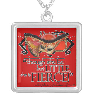 Shakespeare Midsummer Night's Dream Fierce Quote Personalized Necklace