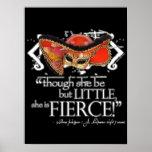 Shakespeare Midsummer Night's Dream Fierce Quote Poster