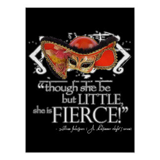 Shakespeare Midsummer Night's Dream Fierce Quote Poster