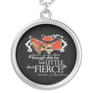 Shakespeare Midsummer Night's Dream Fierce Quote Round Pendant Necklace